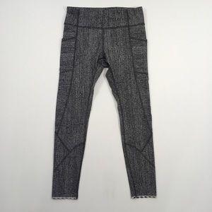 LuluLemon | Grey Patterned Capri Leggings